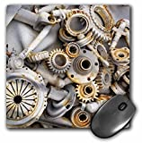 3dRose LLC 8 x 8 x 0.25 Inches Mouse Pad, Steampunk Rusty Parts (mp_45007_1)
