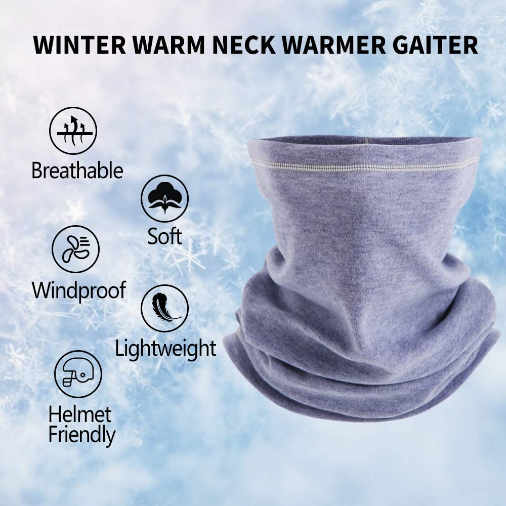 2 Pack// 1 Pack JOEYOUNG Fleece Neck Warmer Gaiter Windproof Face Mask for Men /& Women for Outdoor Ski Running Cycling Motorcycle in Cold Weather Winter/…
