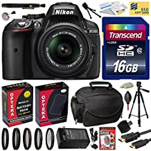 """Nikon D5300 24.2 MP CMOS Digital SLR Camera with 18-55mm f/3.5-5.6G ED VR II AF-S DX NIKKOR Zoom Lens (Black) (1522) with Best Value Accessory Bundle Kit includes 16GB SD Memory Card + SD Card Reader + 60"""" Tripod + Carrying Case + HDMI Cable + Extra Battery & Charger + 52MM 5 Piece Filter Set + Lens Cleaning Kit with Dust Remover"""