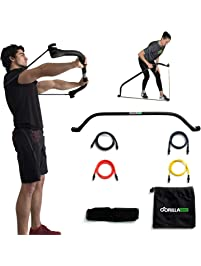 Gorilla Bow Travel Bow | Portable Home Gym Resistance Band System | Weightlifting & HIIT Interval Training Kit