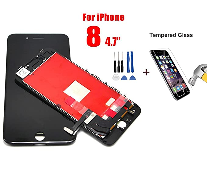 los angeles c639a 58394 CHEAKSE Iphone 8 lcd Screen Replacement 4.7 Inch Black ,LCD Digitizer  display touch screen Full set Assembly + Screen Protector Tempered Glass  ,Free ...