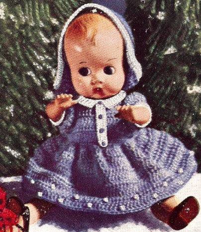 Amazon Com Vintage Crochet Pattern To Make 8 Inch Baby Doll Dress