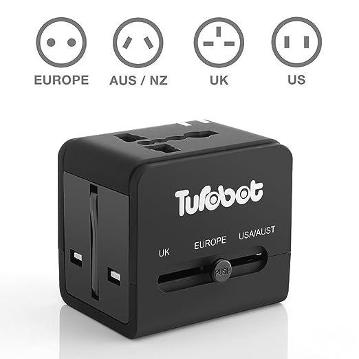 84 opinioni per Adattatore universale da viaggio e caricabatterie USB – Etech Power Adattatore