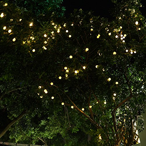 USA free shipping GDEALER Solar String Lights 30LED 20ft Solar Powered Starry Fairy Outdoor ...