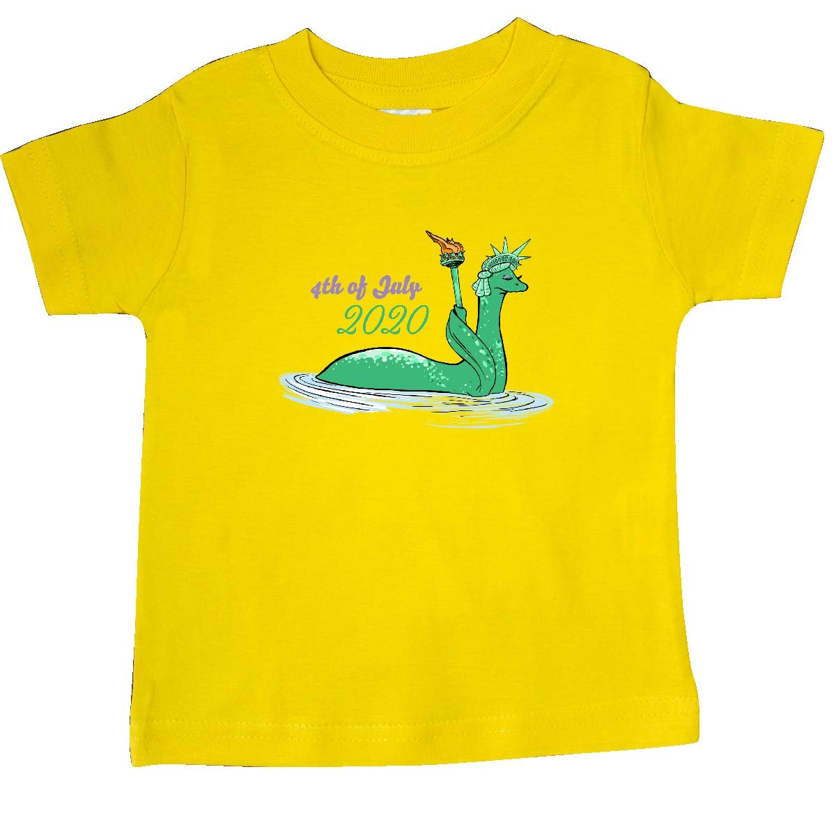 inktastic Nessie Lady Liberty 4th of July 2020 Baby T-Shirt