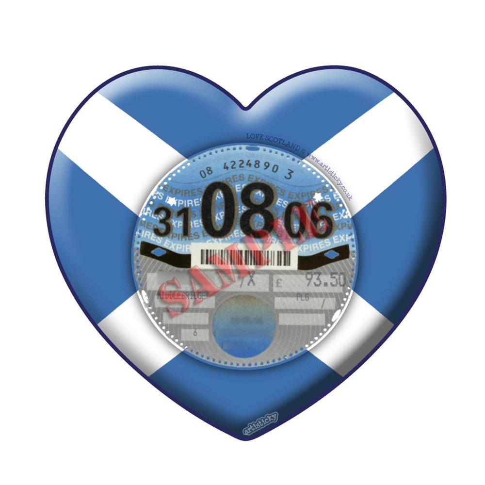 Scotland Scottish PARKING PERMIT Holder Skin Heart - FREE UK POSTAGE Artisticky AS-0092