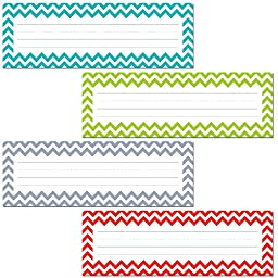 Creative Teaching Press Chevron Solids Name Plates (4517)