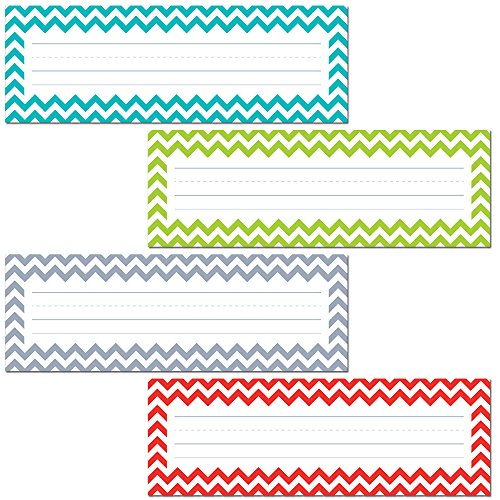 Creative Teaching Press Chevron Solids Name Plates (4517) (Table Plate)