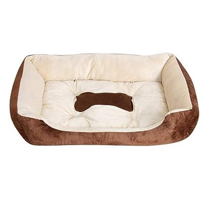 JullyeleESgant Otoño Invierno Mascotas Perro Cama Calentamiento Casa de Perro de Felpa Alto Elástico PP Algodón