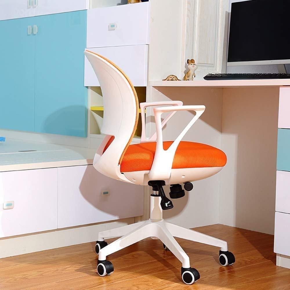 Barstolar Xiuyun kontorsstol spelstol svängbar stol, sömnad färg nät gasväv datorstol, ergonomisk lyftstol, skrivbord skrivstol, personalstol, sovsal stol (färg: A) b