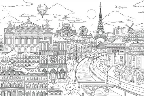 Wall Pops WPK2186 Visite Paris Coloring Wall Decal