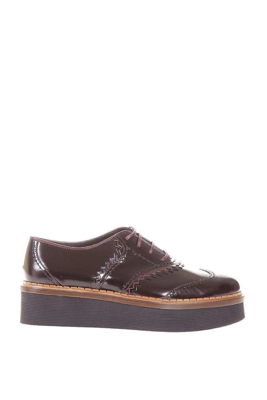 Tod's Mujer XXW03A0V570EB50XXM Marrón Cuero Zapatos De Cordones 38.5 IT - Tamaño de la Marca 38.5