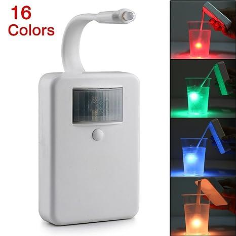Nuevo movimiento activado luz 16 colores LED luz nocturna para inodoro, inodoro, luz nocturna