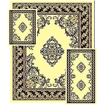 Amazon Com Traditional Medallion Persian Style Area Rugs