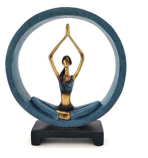 JXWStar-EU Estatuas Creativas de Yoga para decoración de ...