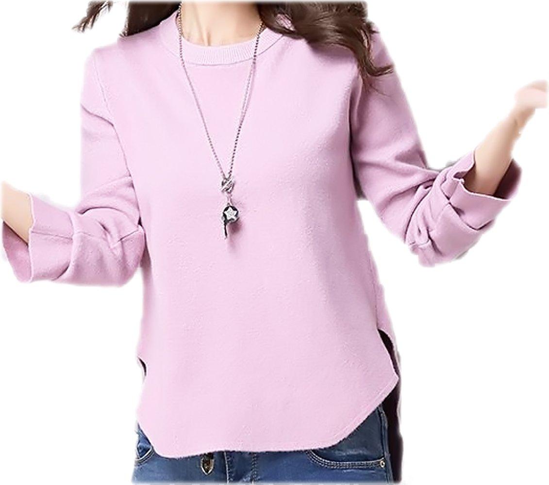 G.G.MAX バックの長めの裾がちょっとしたおしゃれになるセーターです。 B01CTFVXKY 2XL ピンク ピンク 2XL