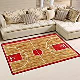 Cheap WOZO Hardwood Basketball Court Area Rug Rugs Non-Slip Floor Mat Doormats Living Room Bedroom 31 x 20 inches