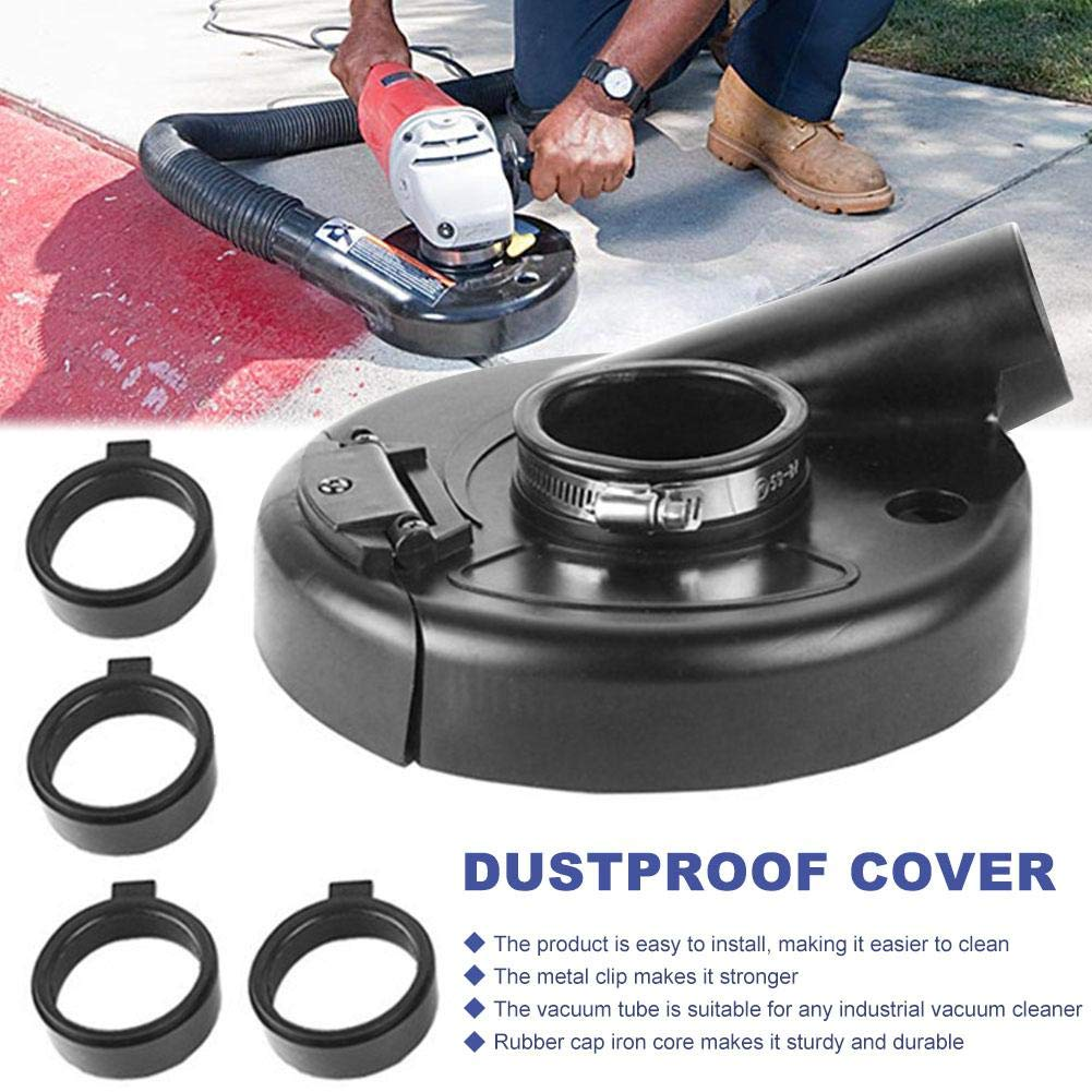 "18cm//7/"" Black Vacuum Dust Shroud Cover for Angle Grinder Hand Grind Set Tool"