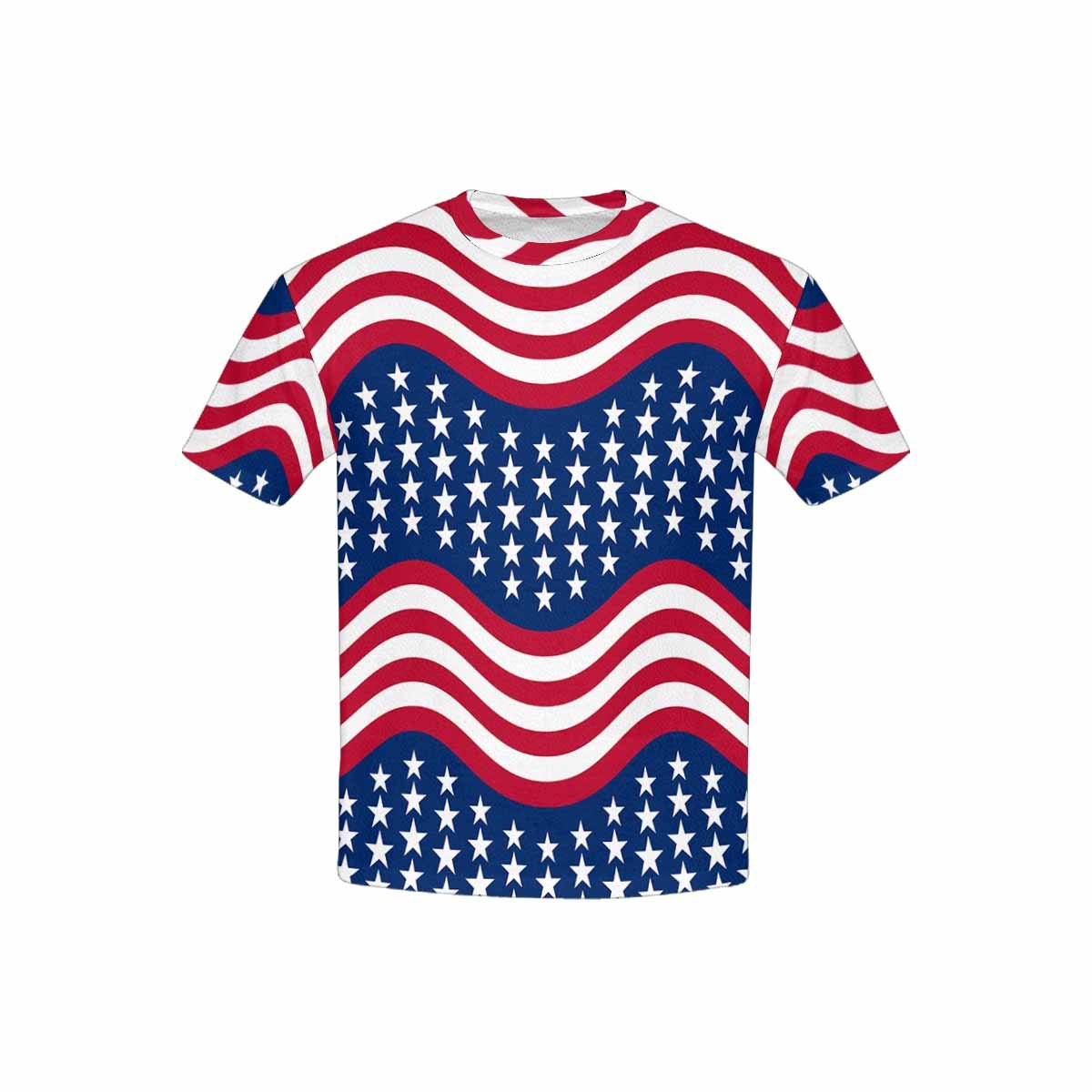 XS-XL INTERESTPRINT Youth T-Shirts Stars and Stripes in Traditional American Colors