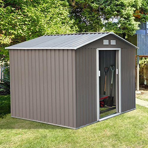 9'X6' Storage Shed Outdoor Garden Backyard Garage Sheds Kit Tools - Lynchburg Outlets