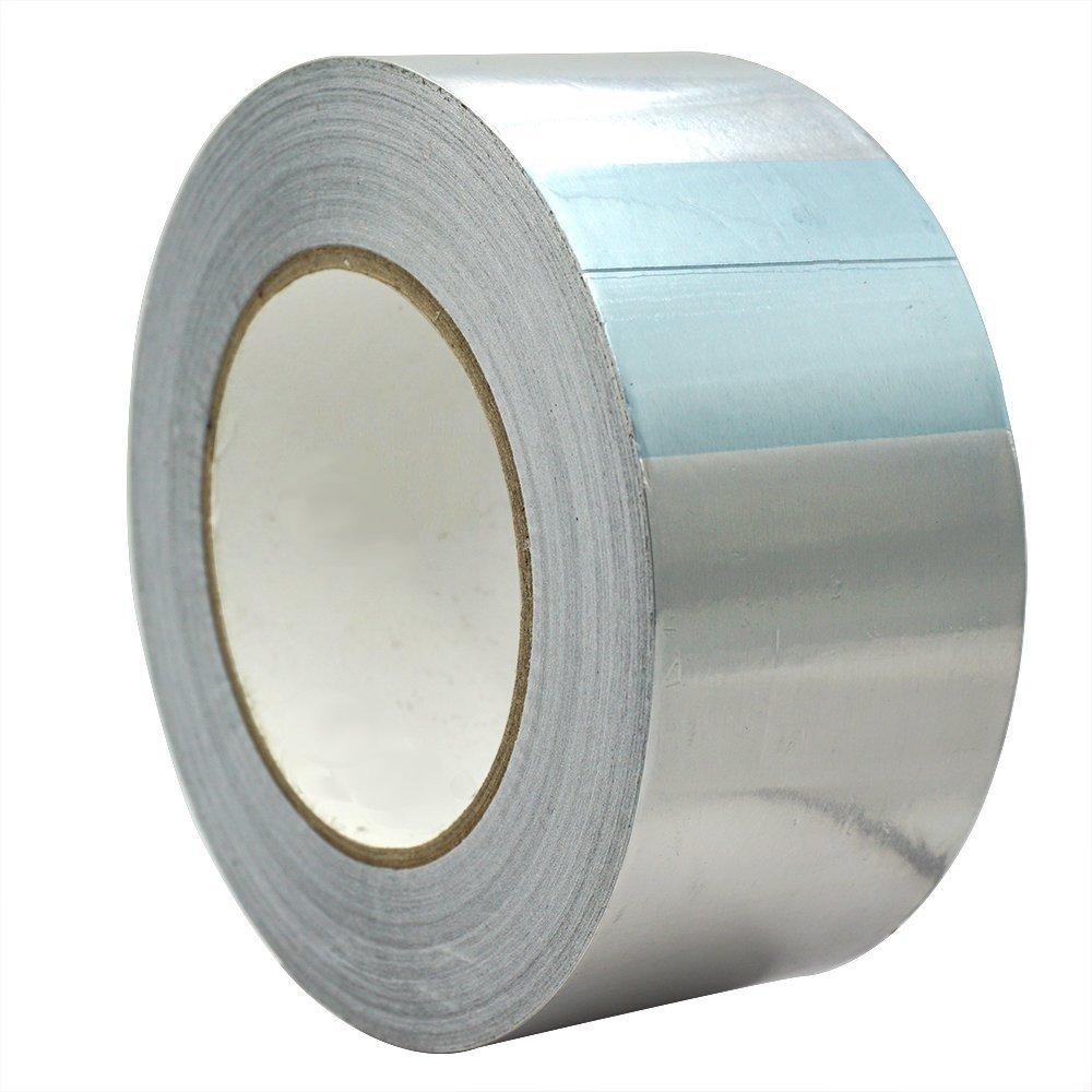 TiGree Cinta Adhesiva de Aluminio, 25m x 50mm, Color Plata