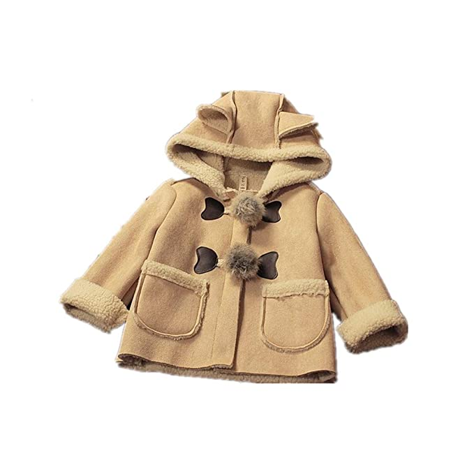 4b047aee391 BibiCola Toddler Baby Girls Hooded Cardigan Coats Thicken Warm Outerwear  Kids Jackets Outfits