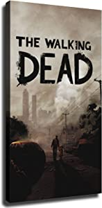 The Walking Dead Game Poster Picture Art Print Canvas Wall Art Home Living Room Bedroom Decor Mural (8×12inch-No Framed)