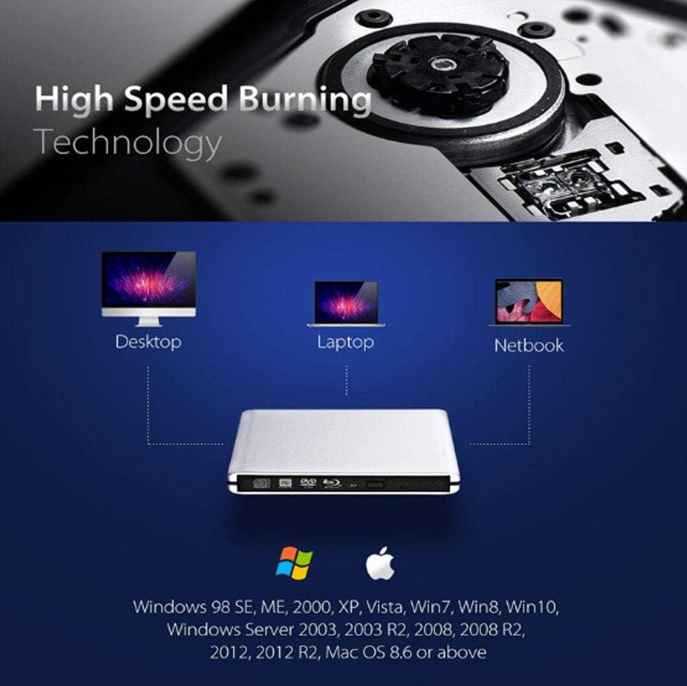 M-Disc Tray Load Disc Drive Blu-ray BDXL Burner for PC USB 3.0 ...