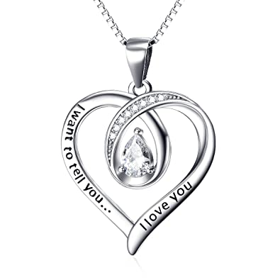 Amazon yfn i want to tell you i love you engraved heart crystal yfn i want to tell you i love you engraved heart crystal sterling silver pendant necklace aloadofball Choice Image