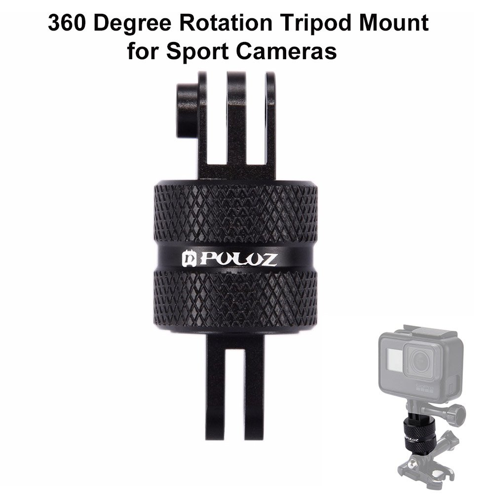 Joint Victory 360 Degree Rotation CNC Swivel Pivot Extension Arm Tripod Mount for GoPro HERO5 /4 /3+ /3 /2 /1, Xiaoyi and other Sport Cameras PULUZ PU220