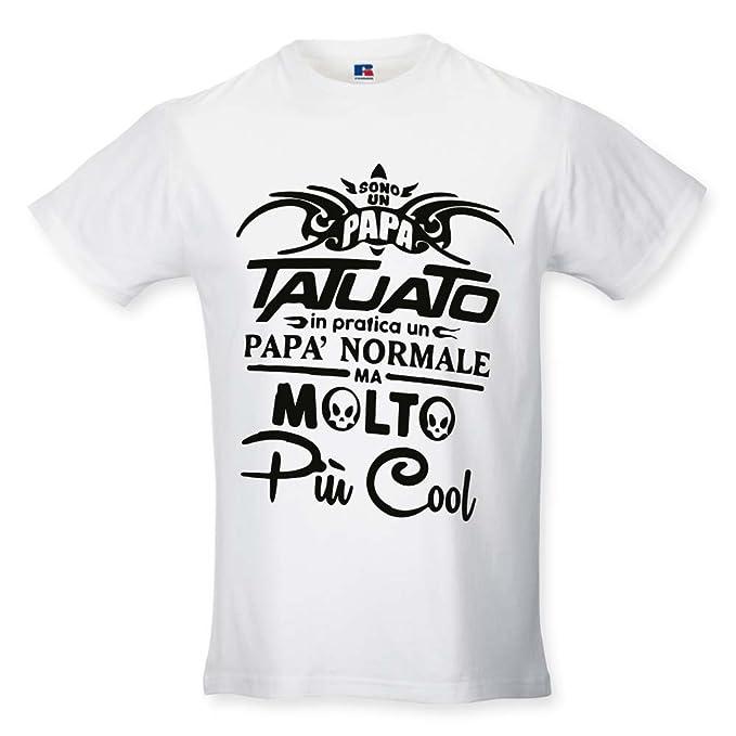 8e501f9496 T Shirt Maglia Maglietta Idea Regalo per Il Papa'Papa' Tatuato