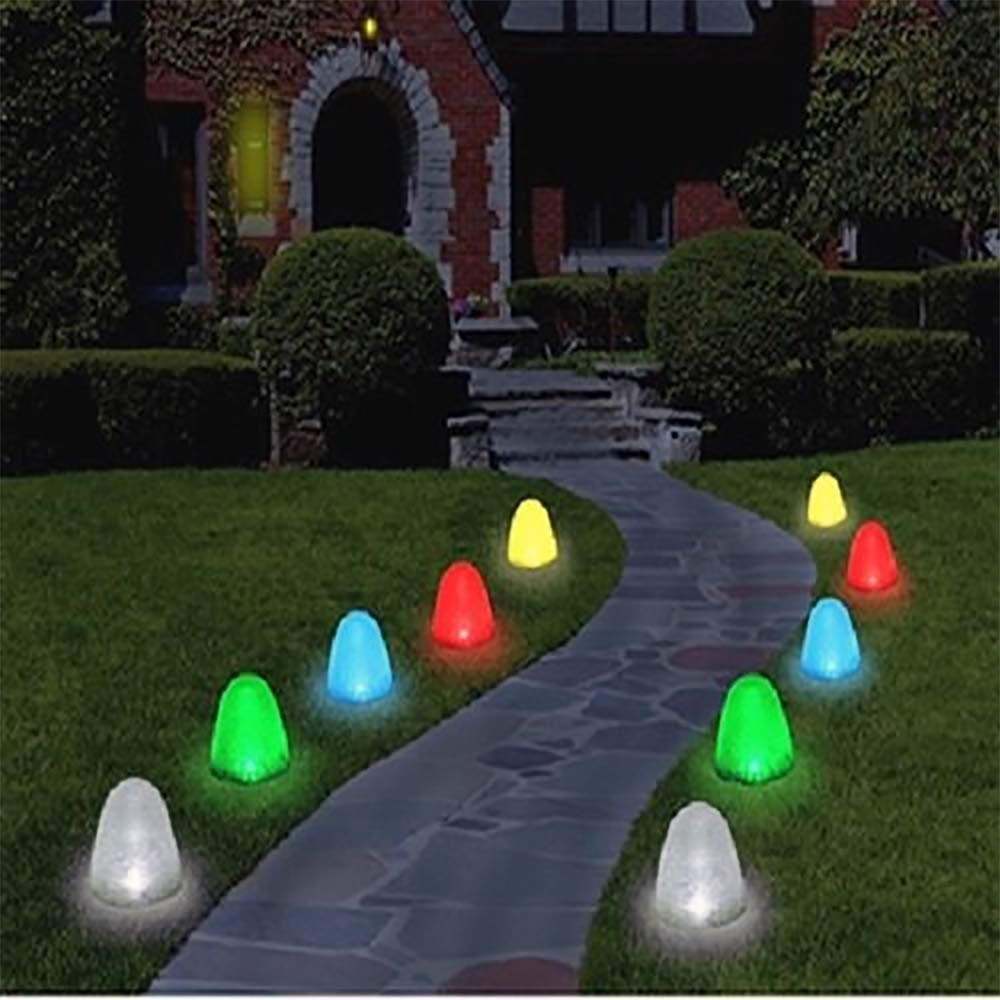 Gum drop Outdoor Christmas Pathway Lights, 8'' Tall Sugar Coated LED Decorations,10 Candy Covers included! by CSL