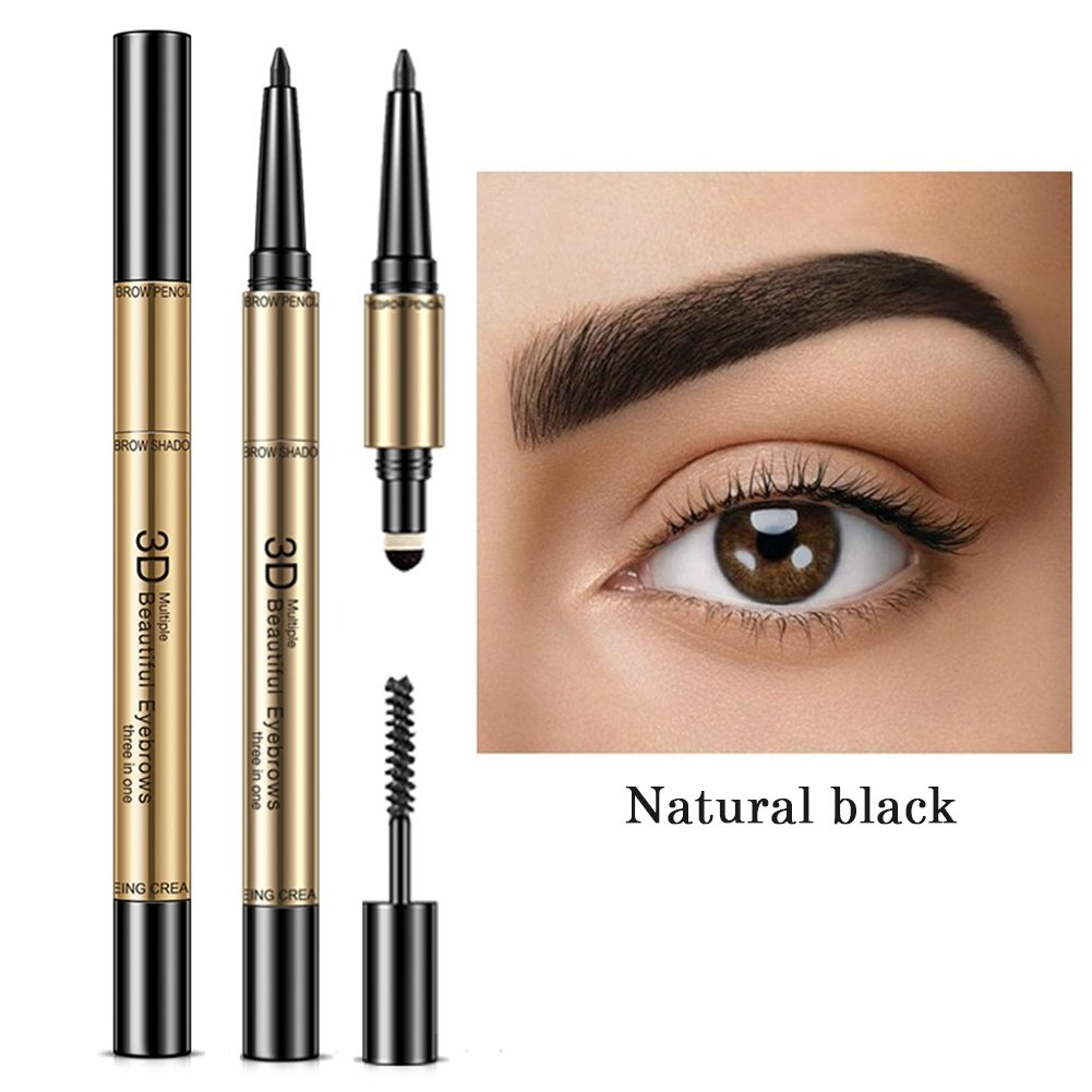 Amazon Shouhengda 3 In 1 Eyebrow Pencil Eyebrow Pen Eyebrow