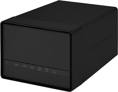 """SilverStone SST-DS222 - Carcasa para Disco Duro Externo USB 3.0 con Almacenamiento Raid de 2 bahías, para HDD o SSD de 2,5"""", Negro: Amazon.es: Informática"""