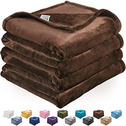 Peachy Kawahome Fleece Blanket Lightweight Fuzzy Microfiber Throw Blankets All Season For Bed Couch Sofa Twin Size 66 X 90 Inches Brown Gmtry Best Dining Table And Chair Ideas Images Gmtryco