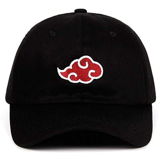 100% Cotton Japanese Akatsuki Logo Anime Naruto Dad Hat Uchiha ... 212b135f51f