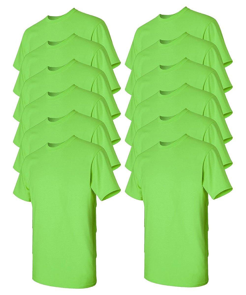 Xlarge,lime XLarge Gildan Men's Classic Heavy Cotton TShirt (Pack of 12)