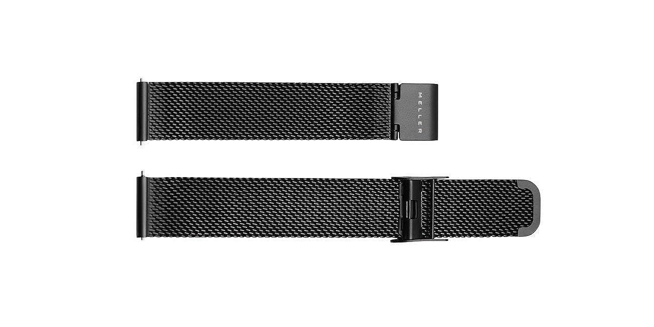 Meller Black Strap - Negro - unisex correa de reloj del metal: Amazon.es: Relojes