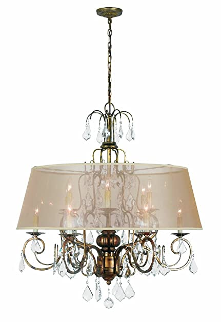 World Imports 1949-90 Belle Marie Collection 12-Light Hanging Chandelier, Antique  Gold - World Imports 1949-90 Belle Marie Collection 12-Light Hanging