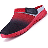 Unitysow Hombres Zuecos Zapatillas de Playa Respirable Malla Ahueca hacia Fuera Las Sandalias Zapatos Verano Ligeros…
