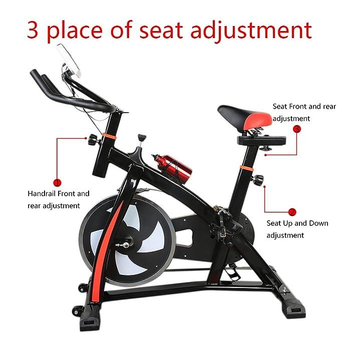 S300 Home trainer LCD Fitness Bicicleta Estática Bicicleta Fitness Bike Indoor Cycle Trimm - Rueda Cycling Sillín, fitness - Bicicleta elíptica Ergometer ...