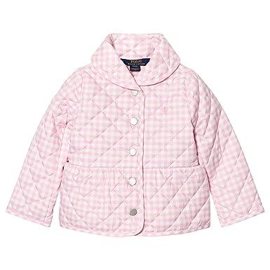 f4170c96c Amazon.com: RALPH LAUREN Polo Girls Gingham Quilted Barn Jacket (4 ...