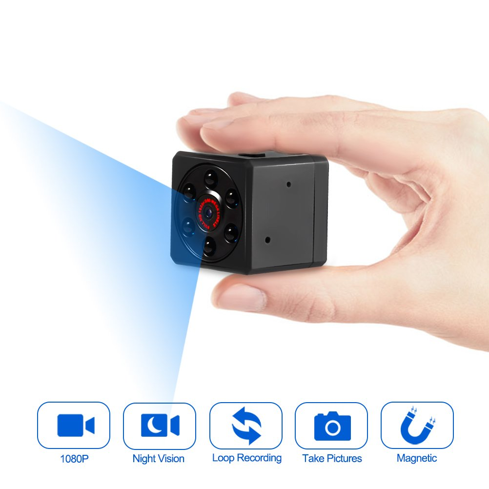 Mini Camera, Spy Camera, Magnetic Sports HD DV Camera 1080P Video Camera with IR Night Vision & Motion Detection, Small Surveillance Camera for Home Office & Car