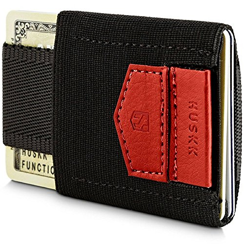 Wallets for Men - Mens Wallet - Slim Small Thin Minimalist Card Holder Wallet - ECSC-BR from HUSKK
