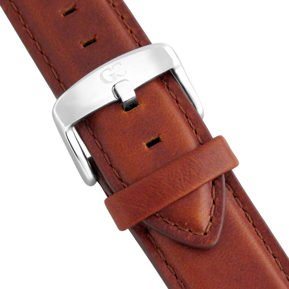 Unisex Minimalist Watch Brown Leather Barclay 40mm Silver with Black Dial: Watches