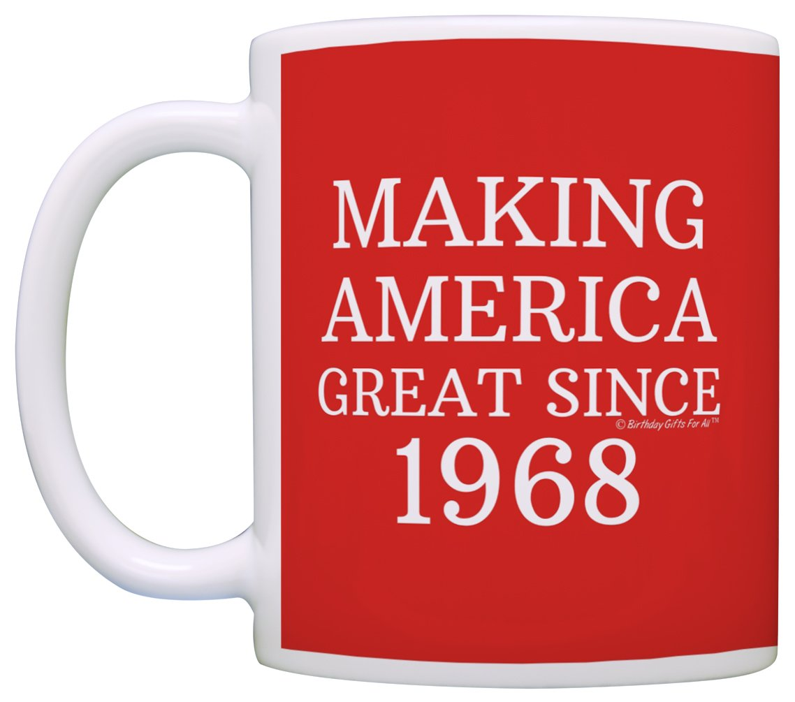 50th Birthday Gifts For All Making America Great Since 1968 Republican Mug Republican Gifts Coffee Mug Tea Cup Red by ThisWear (Image #2)