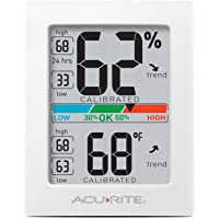 AcuRite 01083 Indoor Thermometer & Hygrometer with Humidity Gauge