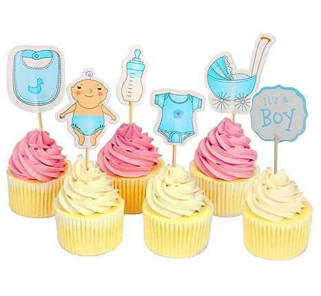 Adornos para cupcakes de baby shower, para niñas, es una ...