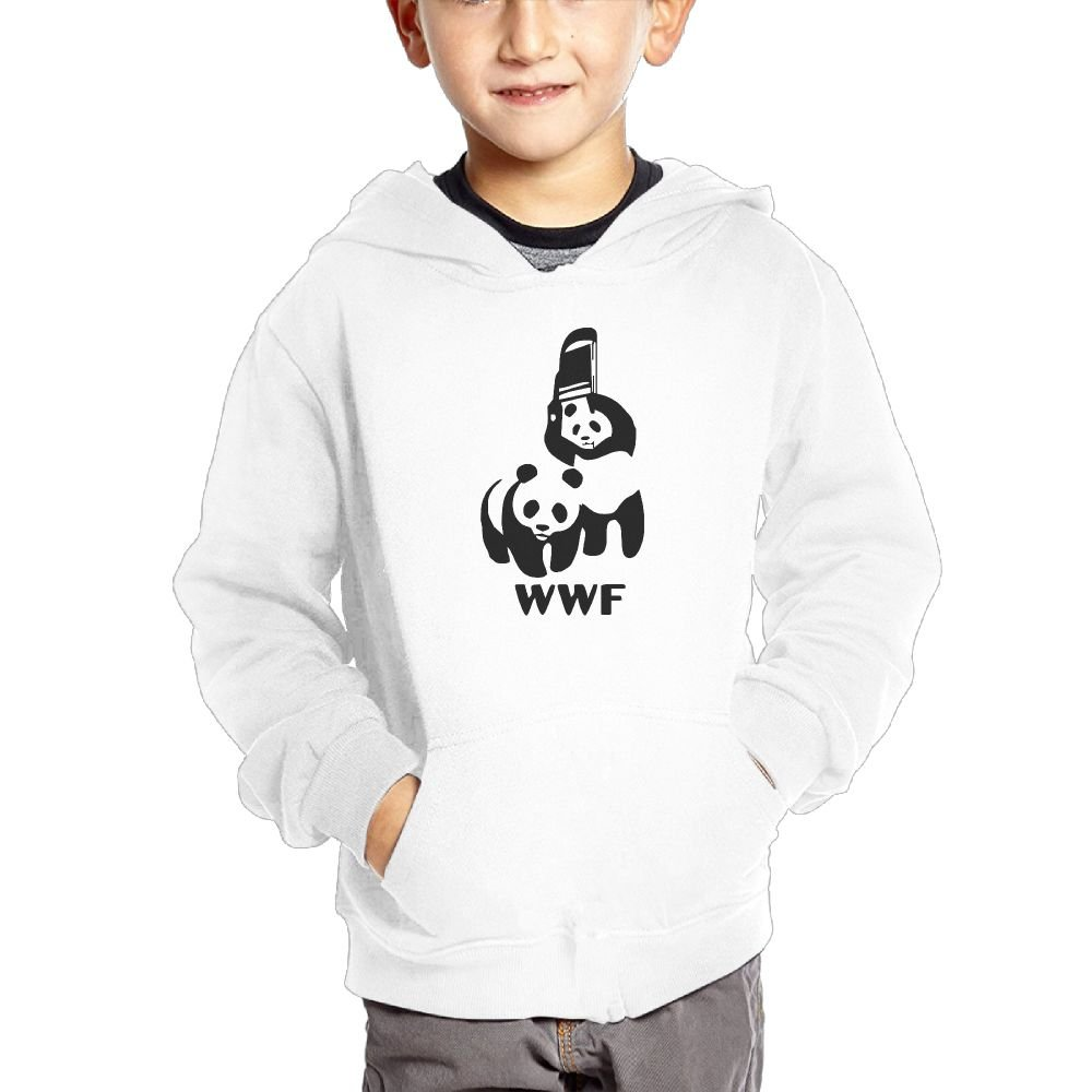 SWJE SKA Funny WWF Panda Bear Wrestling Child Long-sleeve Cotton Hoodie With Cap And A Pocket by SWJE SKA