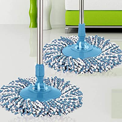 Easter New Replacement 360 Rotating Head Easy Magic Microfiber Spinning Floor Mop Head,Home Decoration for Bedroom Living Room Kitchen: Home & Kitchen
